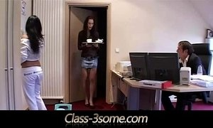 3some  boss  maid  office  young and old