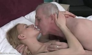blonde mature  girl  grandpa  old cunt