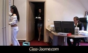 3some lady office