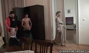 3some  boy with mom  grandma  granny  teens