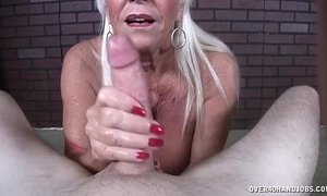 jerking mom  lady  old cunt  pov