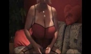 big tits  blonde mature  dildo  monster  playing