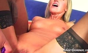 blonde mature  fingering  grandma  pussy  sexy mature  teasing