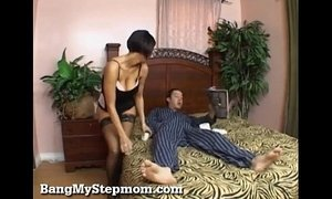 lingerie  seduced  step son  stepmother