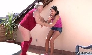 fuck fuck behind man vs woman old granny woman young and old