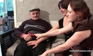 brunette mature  cock  french moms  grandpa  man vs woman  old cunt